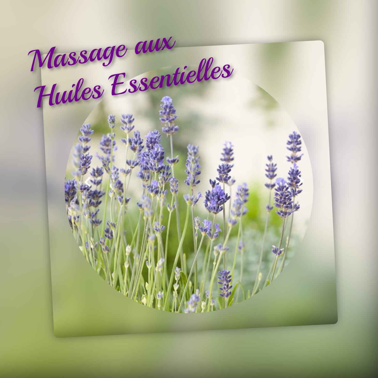 image pour massage  aux huiles essentielles